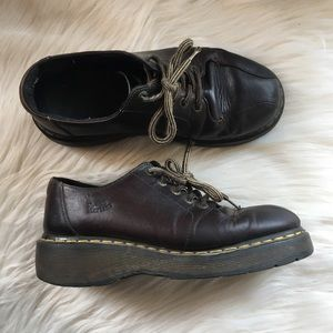 Dr Doc Martens loafer Oxford shoes 9 brown leather